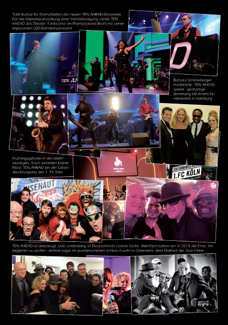 Best of 2015 der Liveband Köln Ten Ahead - Showband, Coverband, Partyband, Download