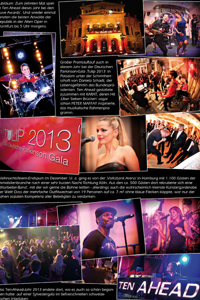 Best of 2013 der Liveband Köln Ten Ahead - Showband, Coverband, PartybandBest of 2015 der Liveband Köln Ten Ahead - Showband, Coverband, Partyband, Download